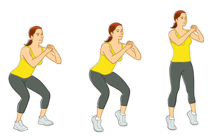 This Fit in 10 move boosts the toning power of a traditional squat using nothing...