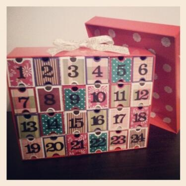 @sydlington's A gift box advent calendar filled with chocolate!