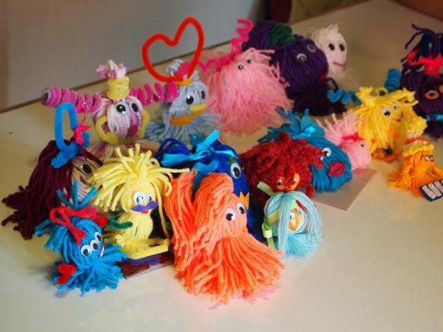Our yarn aliens from the Art Relief International Volunteer Blog!