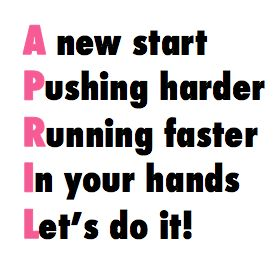 A new start, pushing harder, running faster, in your hands, let's do it!