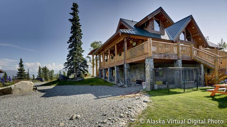 17 best ideas about log homes for sale on pinterest log for Home builders wasilla ak