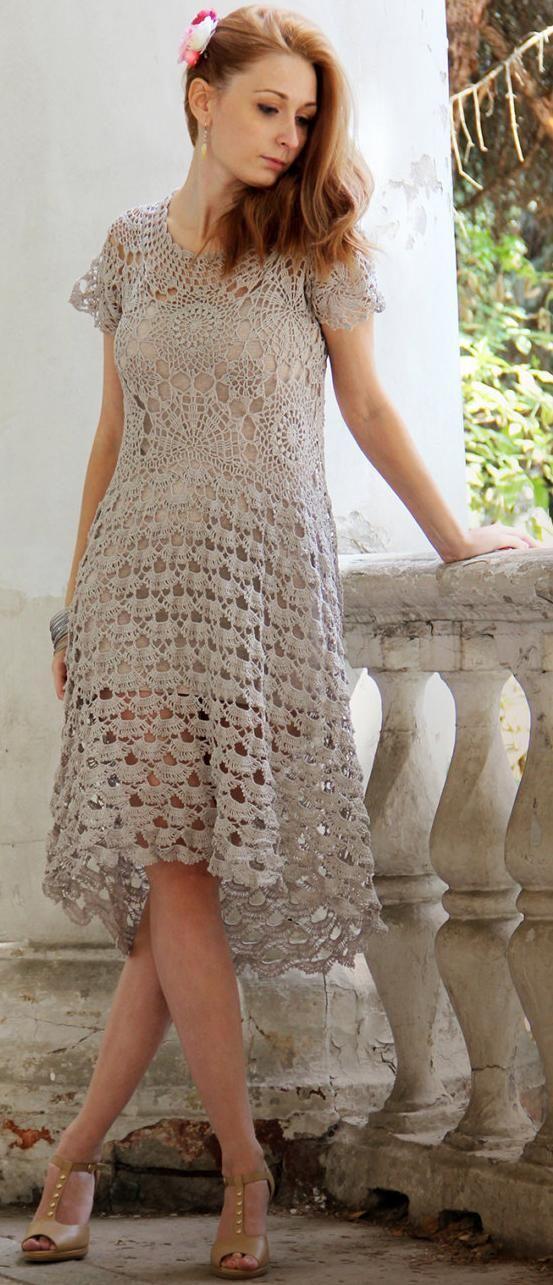 crochet dress Marshmallow by NEGGENKA on Etsy