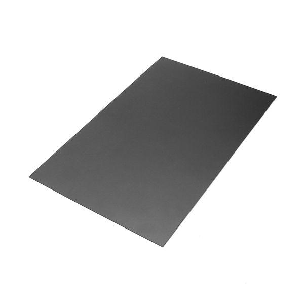200 X 300 X 1mm Black Thermoplastic Sheet Plastic Plate Plastic Plates Plates Thermoplastic