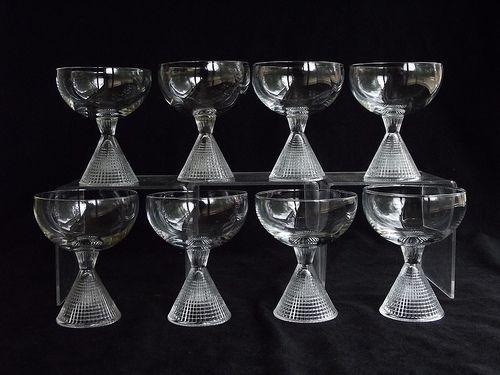 "Iittala ""Briljant"" cocktail glasses. Designed by Tapio Wirkkala."