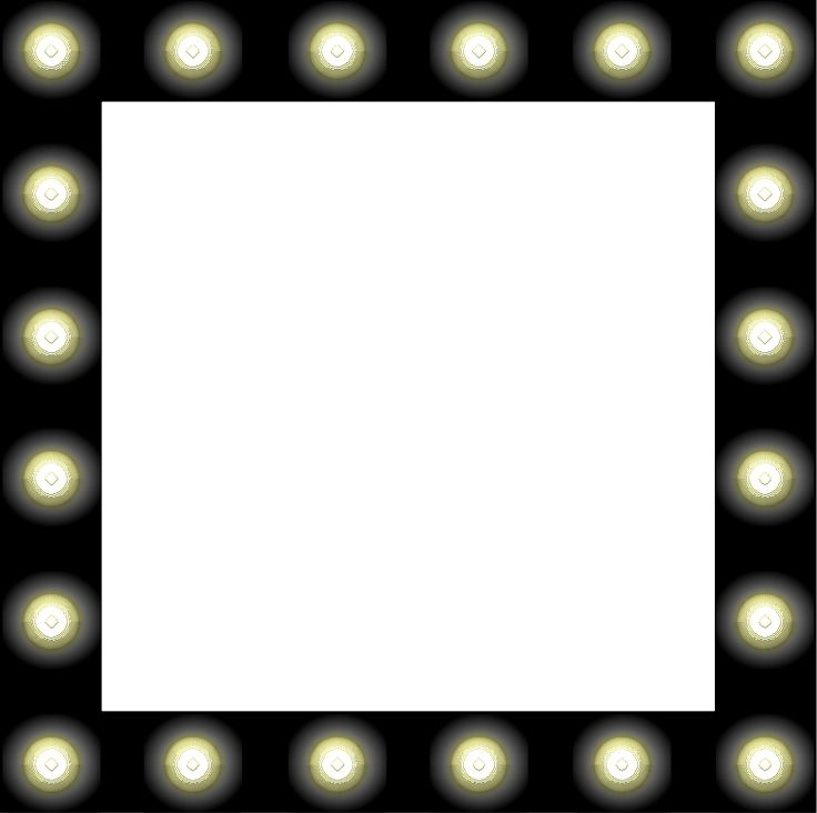 Vanity With Marquee Lights : Showbiz Make-up Mirror Style Frame Clipart free Hollywood Rocks Theme Lights Movie Action Rock ...