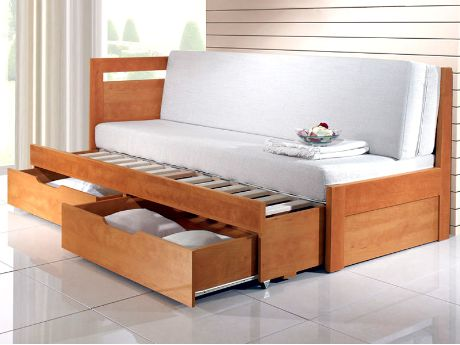 Rozkládací postel Tandem - provedení hrušeň lamino (což je jedna ze 12 barev, ve kterých se postel vyrábí). Vyrábí se v rozměrech 80 x 200 cm (po rozložení 160 x 200 cm) a 90 x 200 cm (po rozložení 180 x 200 cm). Postel má dvě zásuvky. / Tandem sofa bed - pear laminate (which is one of 12 colours, in which the bed can be produced). It's produced in sizes 80 x 200 cm (unfolded 160 x 200 cm) and 90 x 200 cm (unfolded 180 x 200 cm). There are two drawers #sofa #bed #storage #rozkladaci #postel…