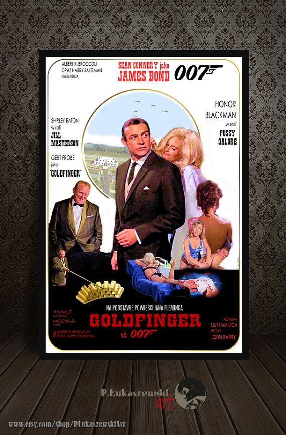 JAMES BOND Goldfinger movie poster / print by PLukaszewskiArt