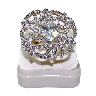 Want to buy Zirconium Stone 18K Gold Plated Ring [73808-6], then Souqelkhaleej.com brings you all the latest jewelry.