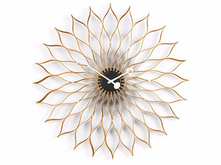 Wall-mounted clock SUNFLOWER CLOCK Wall Clocks Collection by Vitra design George Nelson