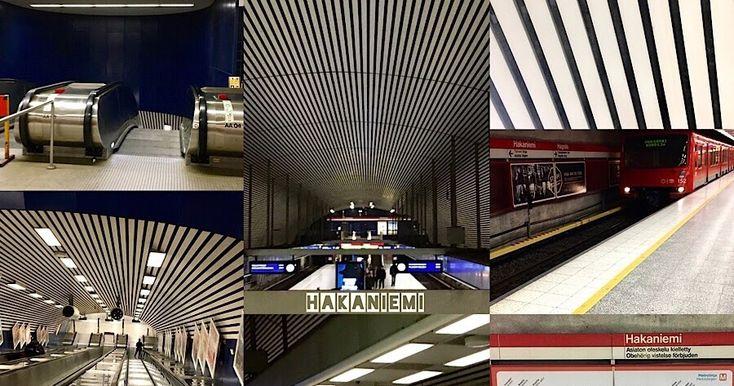 Hakaniemi metrostation -collageart - Kollaasitaidetta Hakaniemen metroasemasta - Indivue NS2017