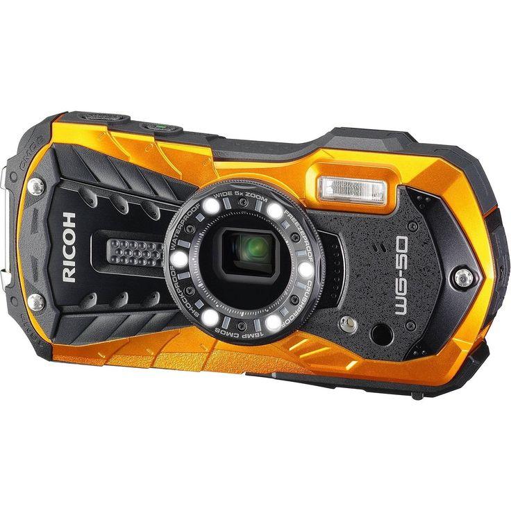 Ricoh 16 Waterproof Still/Video Camera Digital with 2.7 LCD Orange (WG-50 or