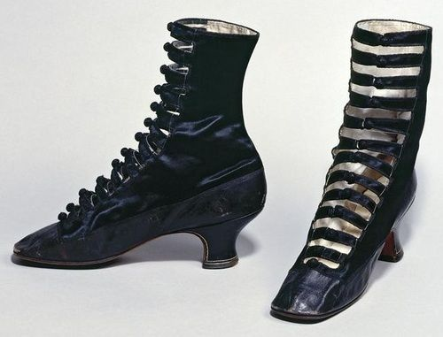 Late 19th century silk shoes.