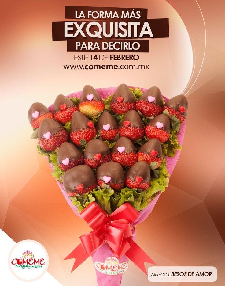 Besos de amor es el arreglo ideal para este 14 de febrero - Decoraciones para san valentin ...