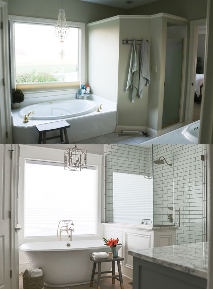 Love this before and after gorgeous bathroom remodel we - Diy bathroom remodel before and after ...