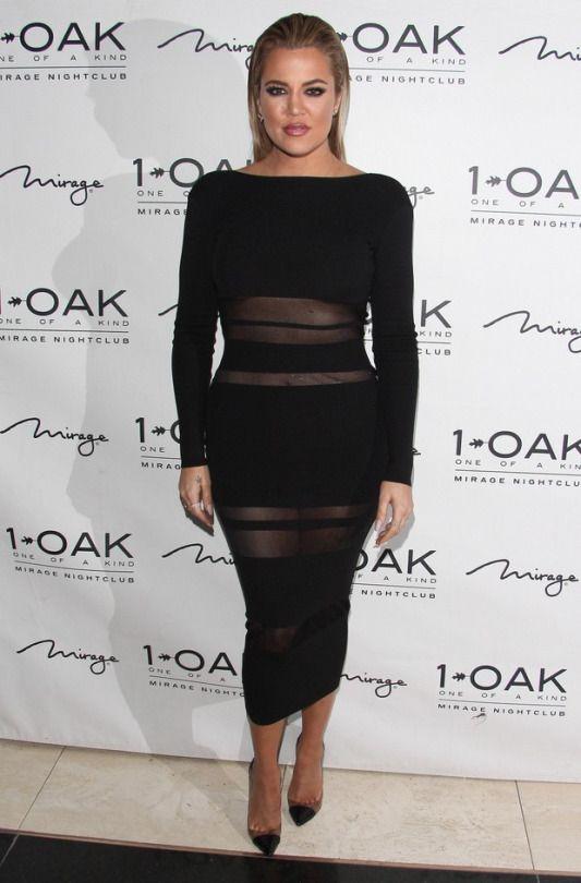 Khloe Kardashian wearing Christian Louboutin Bis Un Bout Pumps in Black