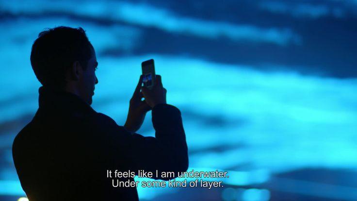 'Waterlicht' by Daan Roosegaarde at Museumplein Amsterdam