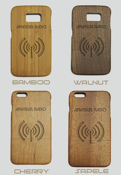 Amateaur Radio Engraved Wood Phone Case