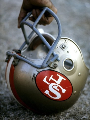 NFL Historical Imagery: San Francisco 49ers helmet Photographic Print from AllPosters.com