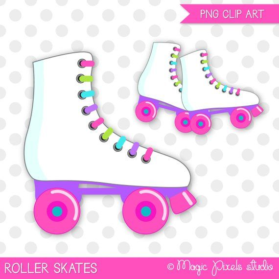 Roller Skates Clip Art Is Perfect For Card Design Invitations Party Printables Scrapbooking Stickers Dec Roller Skating Party Skate Party Roller Skating