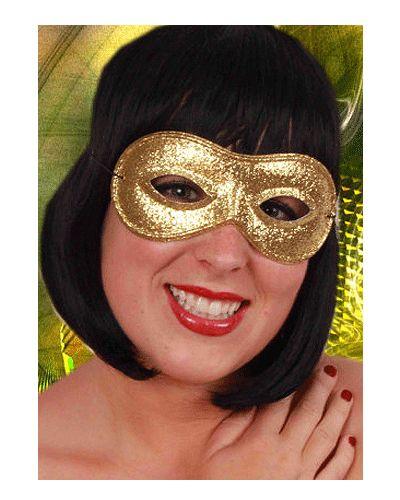 Oogmasker goud met glitters. Leuk goudkleurig oogmasker met glitters. Dit gouden oogmasker bedekt uw gezicht rondom de ogen.