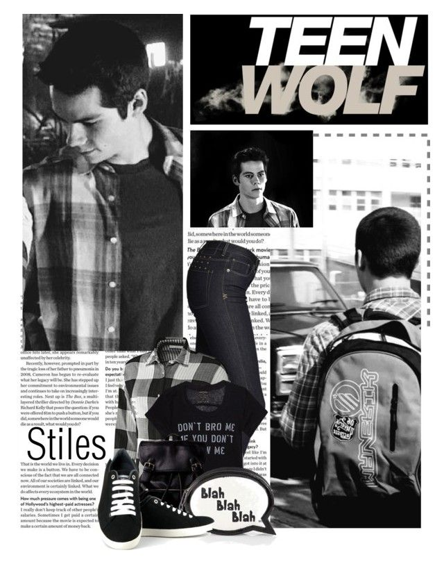 """""""Stiles"""" by queenrachietemplateaddict ❤ liked on Polyvore featuring Ksubi, adidas, Akira Black Label, Sophia Webster, Vegetarian Shoes, TeenWolf, TV and Stiles"""