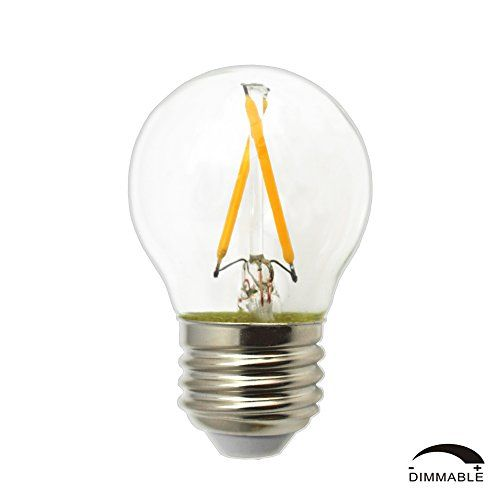 Dr.Lamp Dimmable Led Globe Bulb G14 2W LED Bulb Rplace 25...