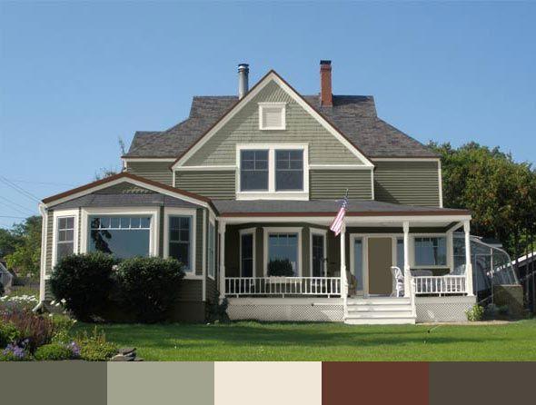 Green Exterior Paint Color Schemes