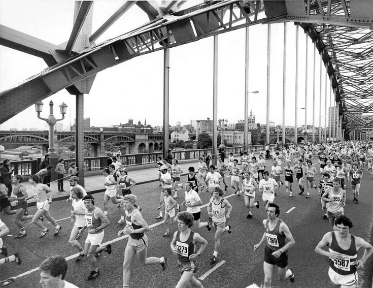 1981: The first Great North Run Newcastle   History   Great North Run   Tyne Bridge   Running   History