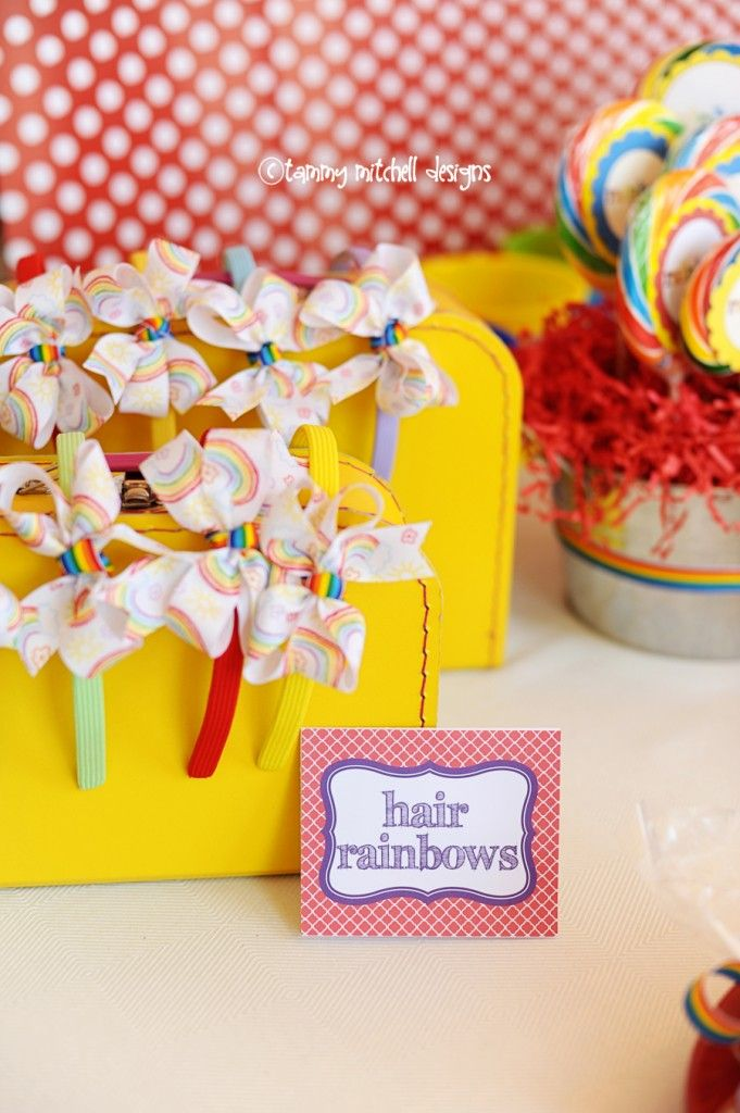 RAINBOW PARTIES: ART PARTIES: GIRL PARTIES: Somewhere over the Rainbow Party - Pink Peppermint Design
