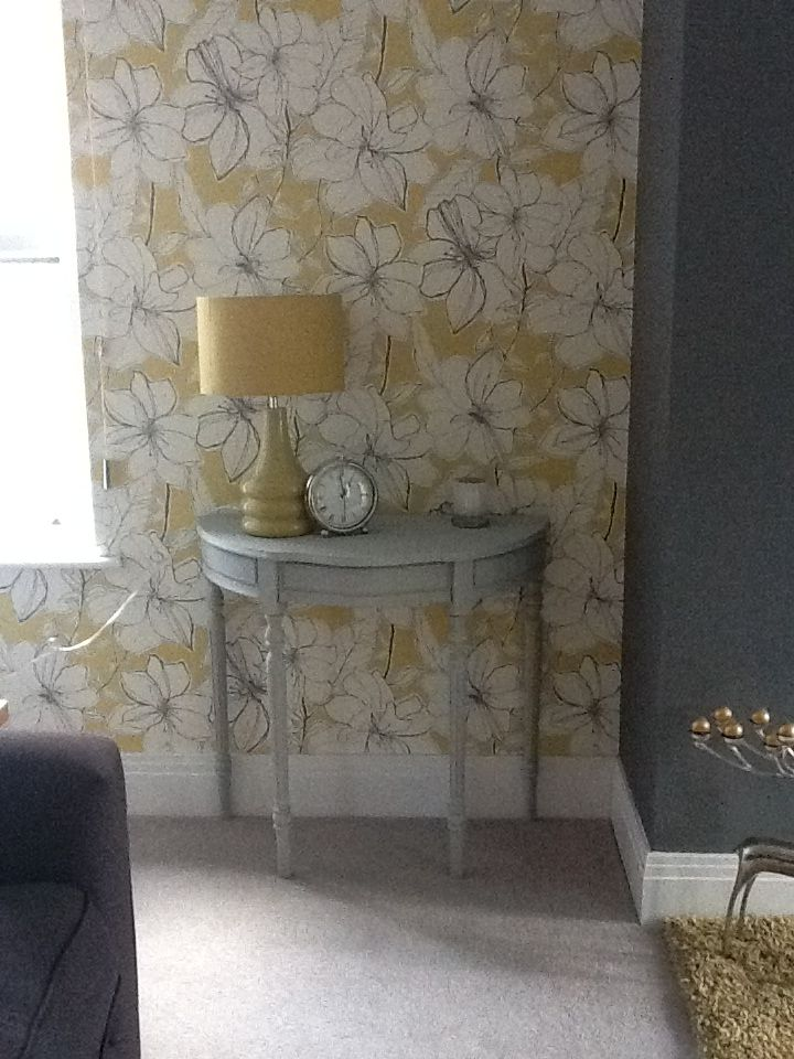 Half Moon Table   Painted In Annie Sloane   Paris Grey! Refurbished  FurnitureShabby Chic ...
