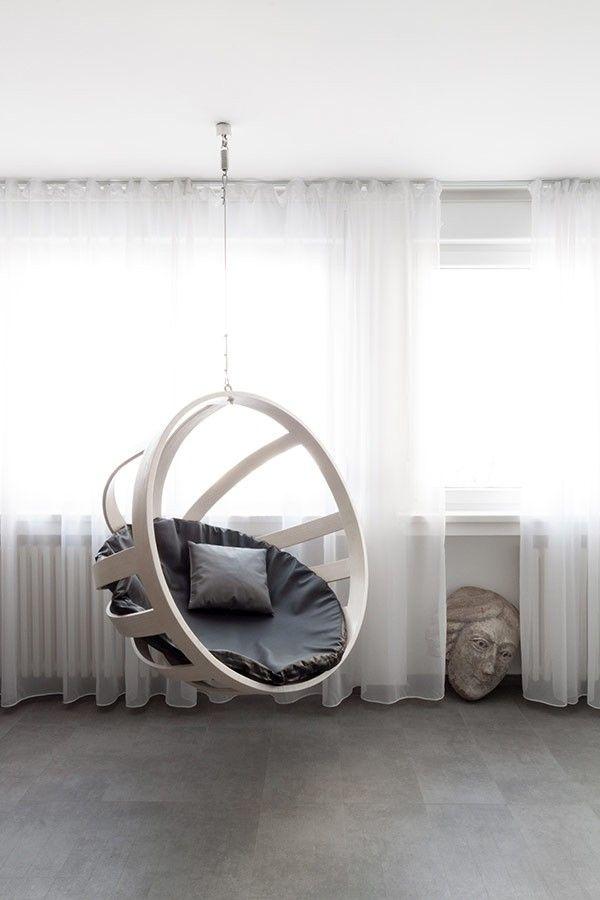 sitzender knock Bereich Wohnung Minimalist Andreja Bujevac 21 schwarz-weiß (11)