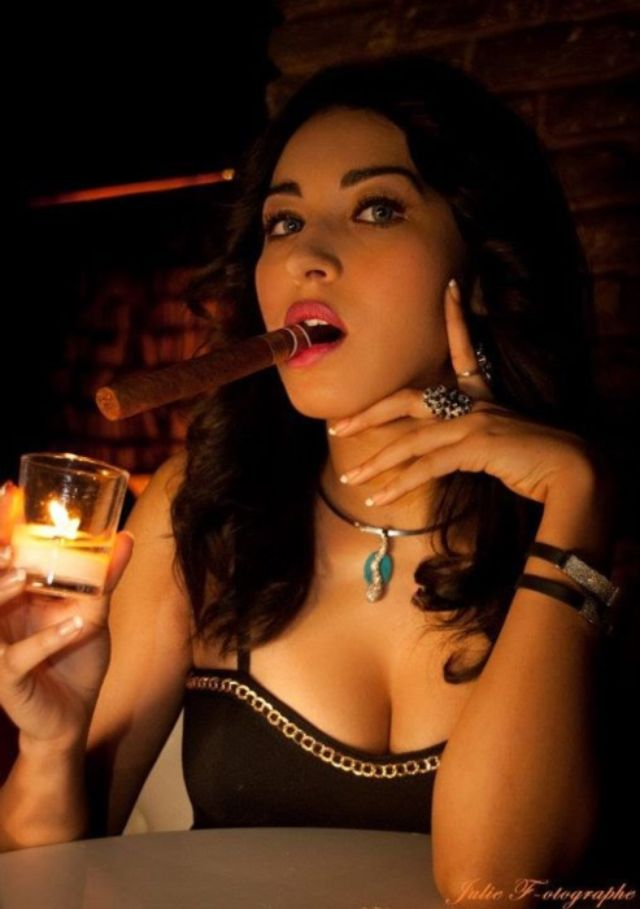 Cigar Smoking Porno Girl