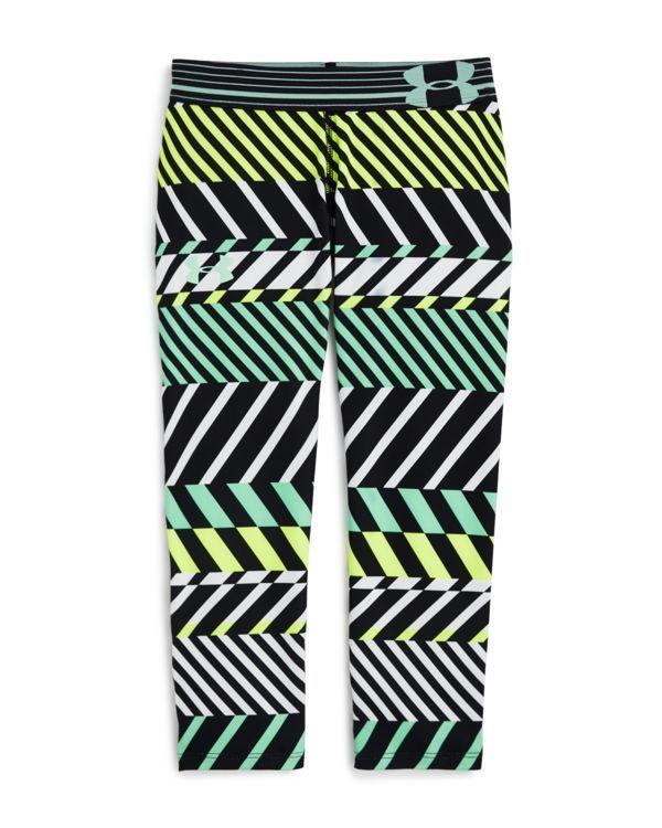Under Armour Girls' HeatGear Graphic Capri Leggings - Sizes Xs-xl