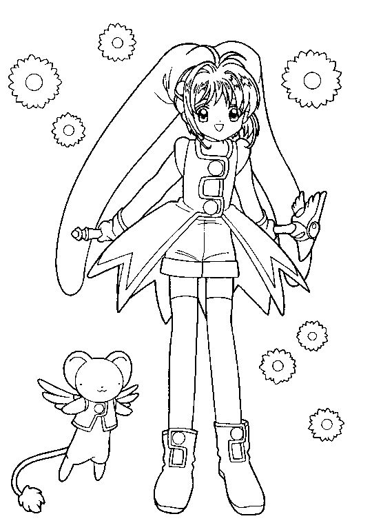 coloring pages cardcaptors - photo#7