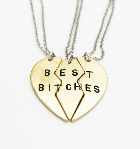Best Bitches 3 Piece Necklace Set from P.S. I Love You More Boutique. Summer Fashion 2015. www.psiloveyoumoreboutique.com