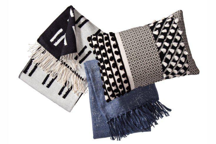 Threshold Blankets and Lumbar Pillow