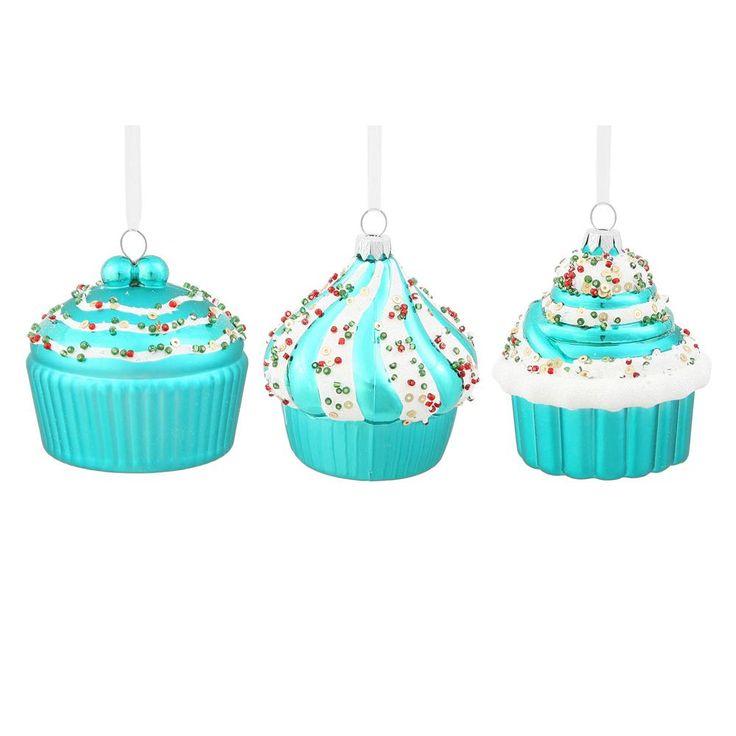 3'' Teal Cup Cakes Asst 3/Bag