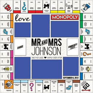 10 best monopoly images on pinterest board game wedding for Custom monopoly board template