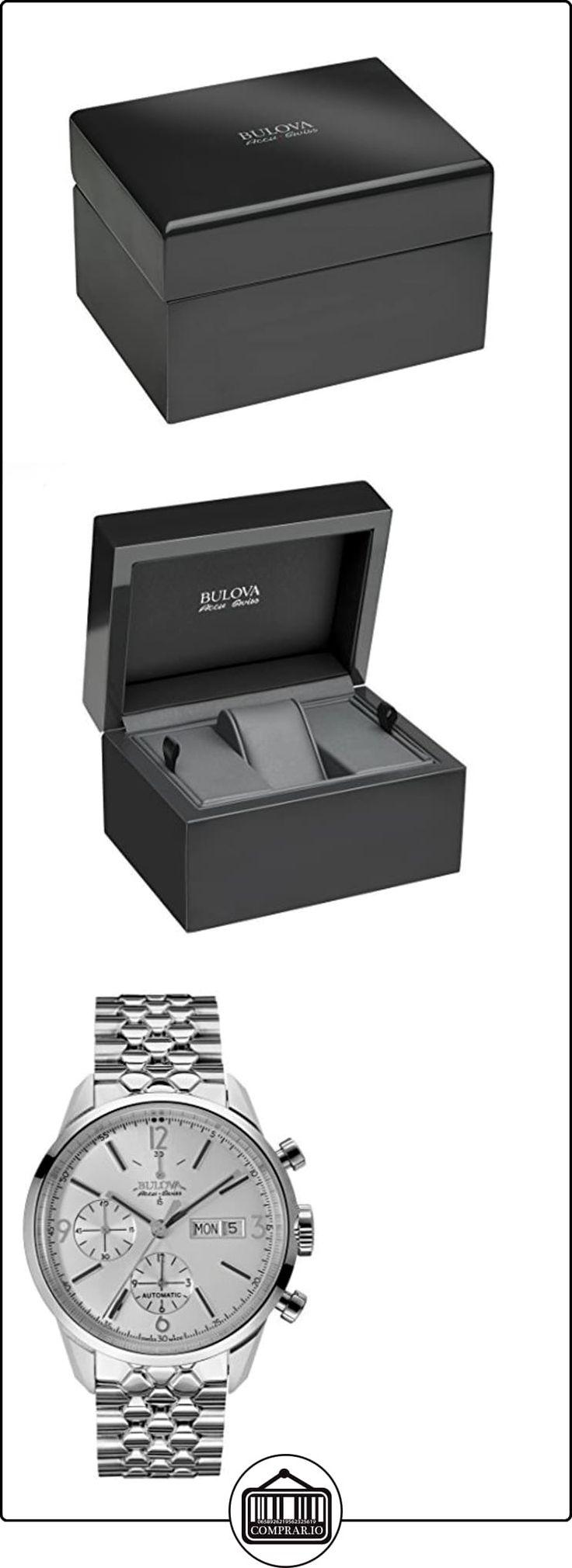 Bulova Accu Swiss 63C118 - Reloj para hombres, correa de acero inoxidable color plateado  ✿ Relojes para hombre - (Lujo) ✿