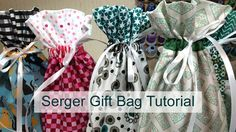 In this short tutorial, I'll show you how to make a fabric gift bag using your serger/overlock machine. You could also use your sewing machine to make this p...