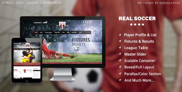 Real Soccer is a responsive Wordpress theme, especially, for football, soccer…
