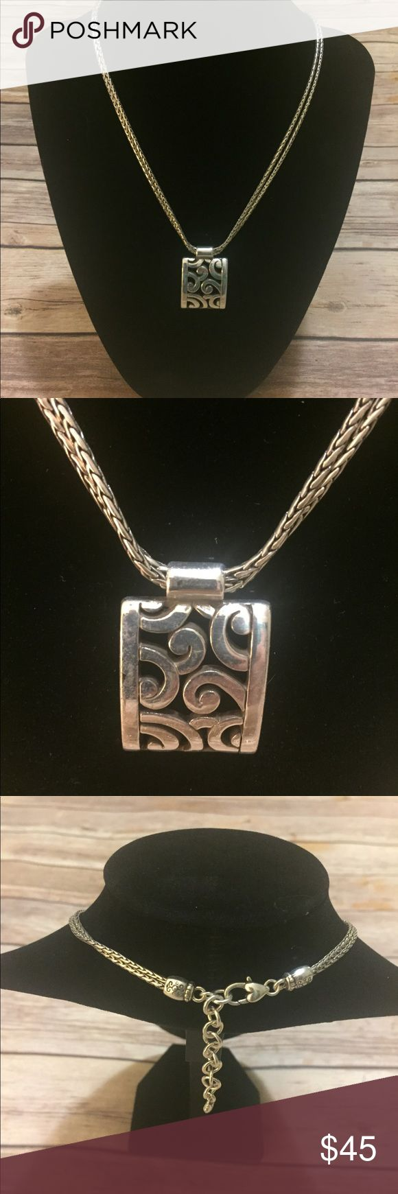 Beautiful Brighton double chain necklace Beautiful Brighton double chain necklace, adjustable length, used but great condition Brighton Jewelry Necklaces