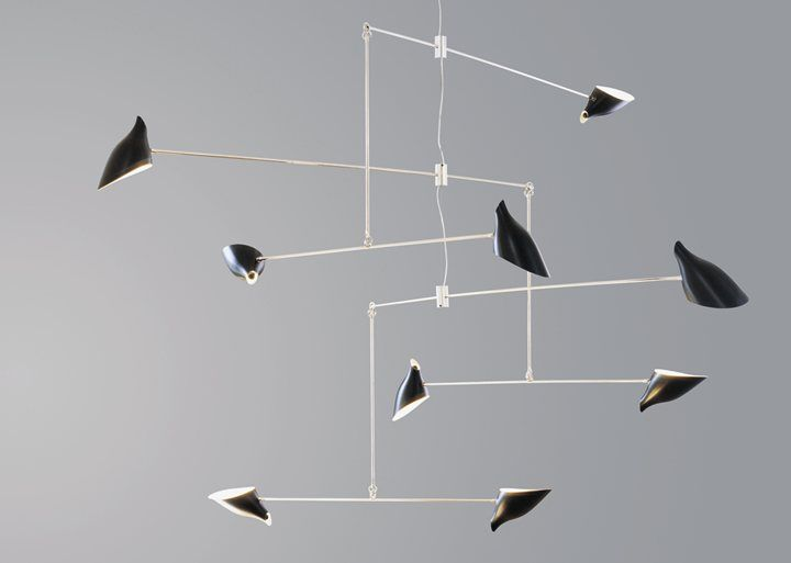 The Hanging Mobile by David Weeks Studio balanced fixture custom crafted to client specifications & 150 best Mobile lighting images on Pinterest | Sculpture Space ... azcodes.com