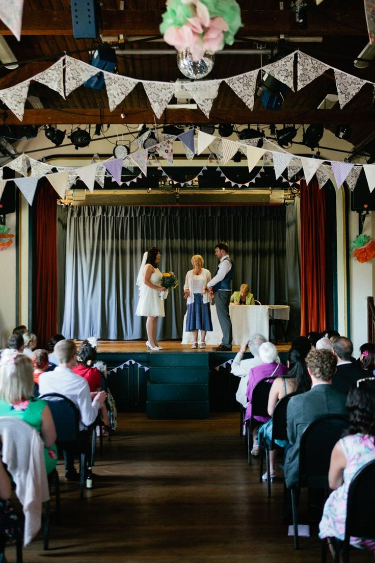 Lympstone Village Hall Devon Crafty Budget Polka Dot Village Hall Wedding https://matildarosephotography.com/