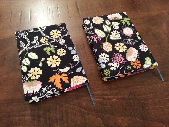 Fabric Covered Notebook ~~ For sale on Etsy via ShimraDesigns ~~