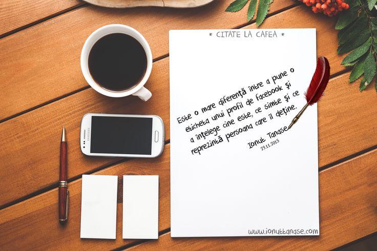 """Am creat pe blog o rubrică pe care am intitulat-o sugestiv """"Citate la cafea"""". În această rubrică voi posta zilnic, la cafeaua de dimineață, câteva rânduri menite să inspire, să motiveze, să amu..."""