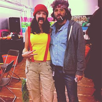 Cheech & Chong Industry Event  My hubby Steve is not only cool enough to start HHLifestyle with me but also come up with these epic Halloween costumes. #founders #momandpopstartup