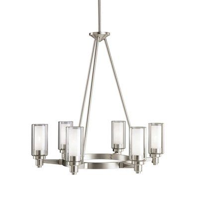 Shop kichler lighting 2344 6 light circolo chandelier at lowes canada find our selection of chandeliers at the lowest price guaranteed with price match