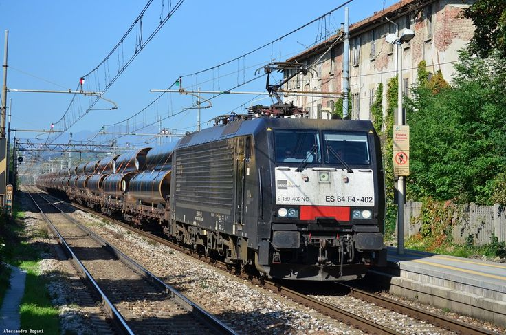 Italy - Freight train NC E189 402 / Cimnago, Lombardy — Trainspo