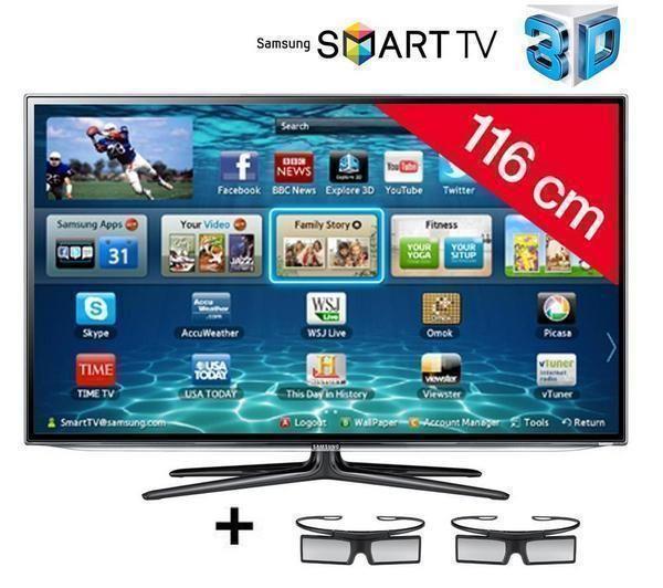 samsung t l viseur led smart tv 3d ue46es6300 prix promo. Black Bedroom Furniture Sets. Home Design Ideas